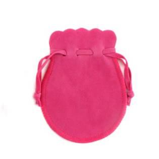 Semišový dárkový sáček tmavě růžový, 7 x 9 cm