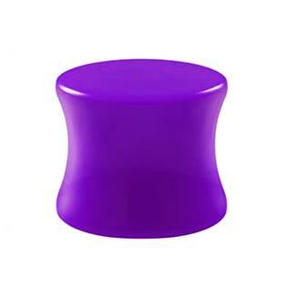 Akrylátový plug do ucha fialový