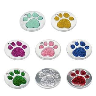 Šperky4U Kulatá psí / kočičí známka tlapka - PZ016-Y