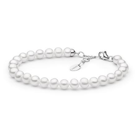 Perlový náramek z pravých říčních perel bílý GA2000-WH