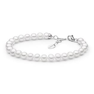 Perlový náramek z pravých říčních perel bílý