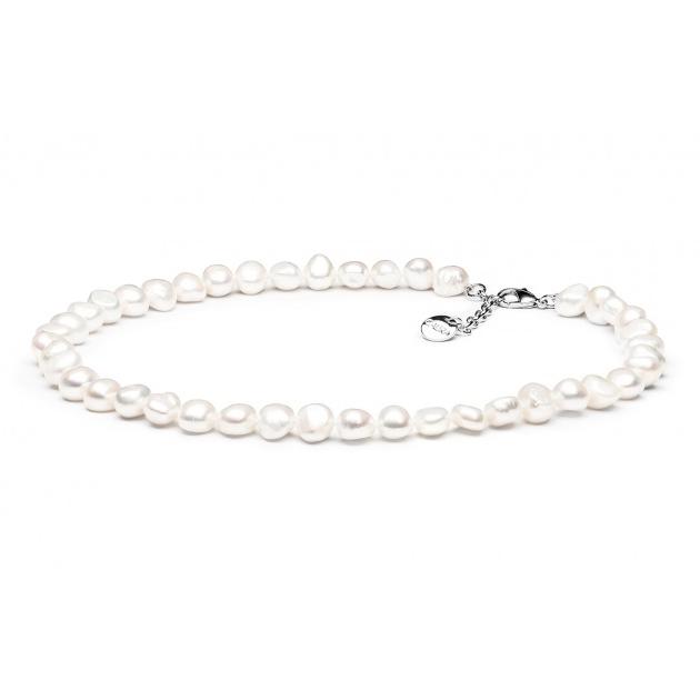 Perlový náhrdelník z pravých říčních perel GA3000-WH