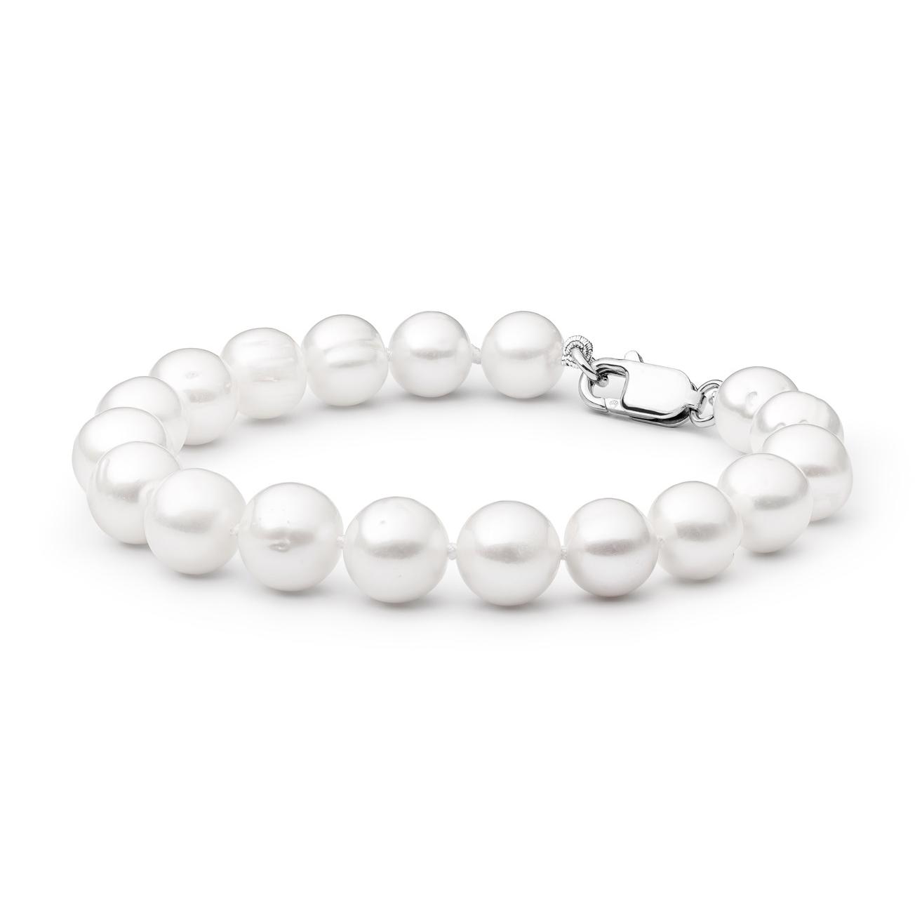 Perlový náramek z pravých říčních perel bílý GA2006-WH