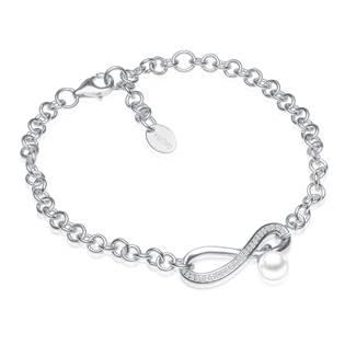 GA2008-WH Stříbrný náramek s pravou říční perlou