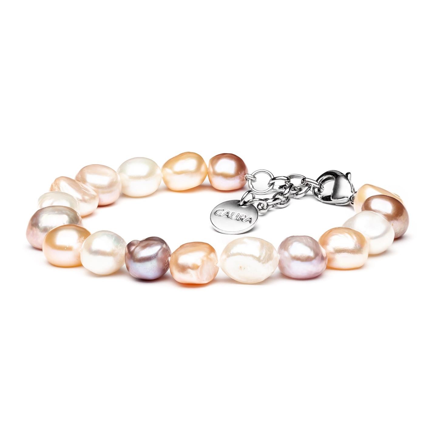 Perlový náramek z pravých říčních perel GA2010