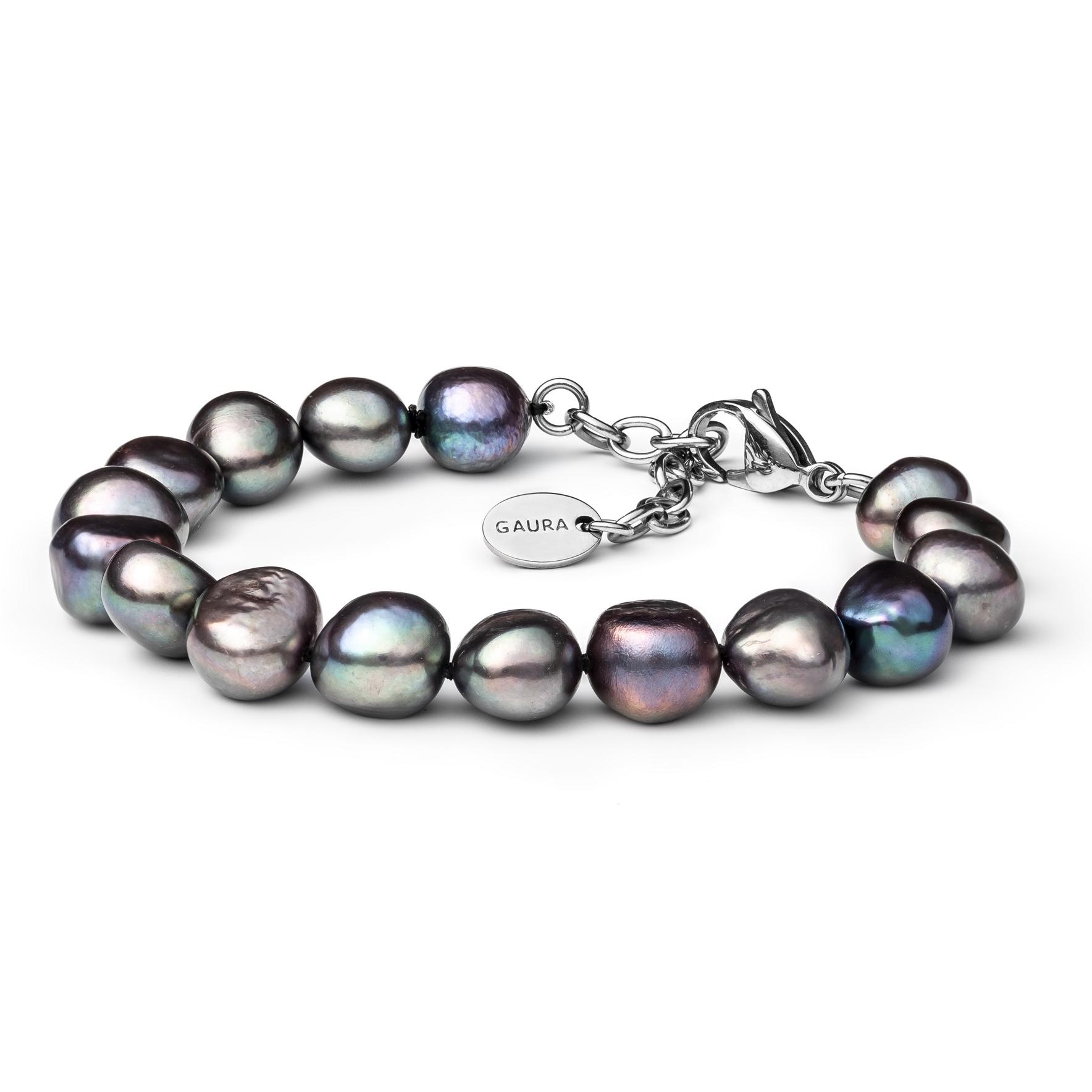 Perlový náramek z pravých říčních perel GA2011-K