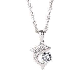 NB-2160 Stříbrný náhrdelník - delfín