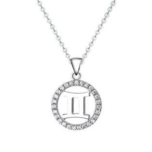 NB-2162-09 Stříbrný náhrdelník - znamení blíženci