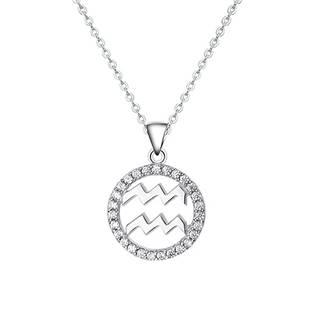 NB-2162-10 Stříbrný náhrdelník - znamení vodnář
