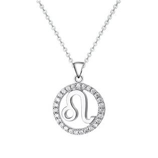 NB-2162-07 Stříbrný náhrdelník - znamení lev