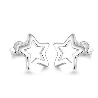 NB-3407 Stříbrné náušnice hvězdičky