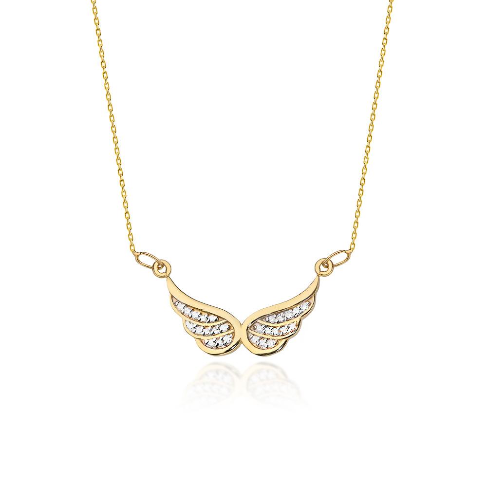 Diamantový náhrdelník, žluté zlato a brilianty