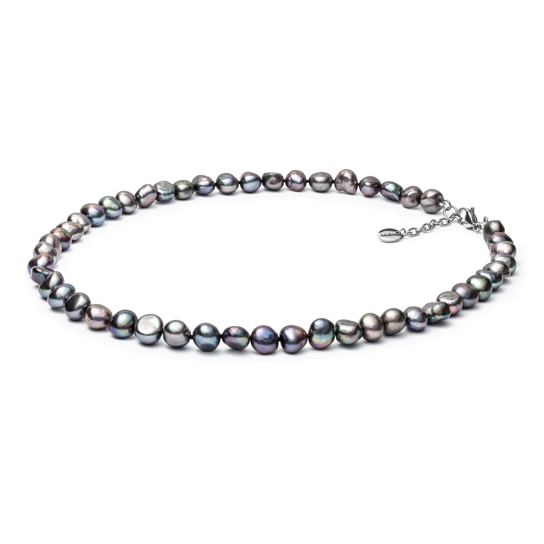 Perlový náhrdelník z pravých říčních perel GA3000-K