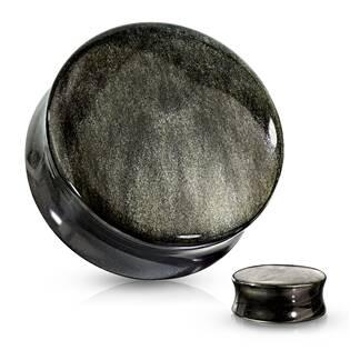 Plug do ucha - zlatý obsidián
