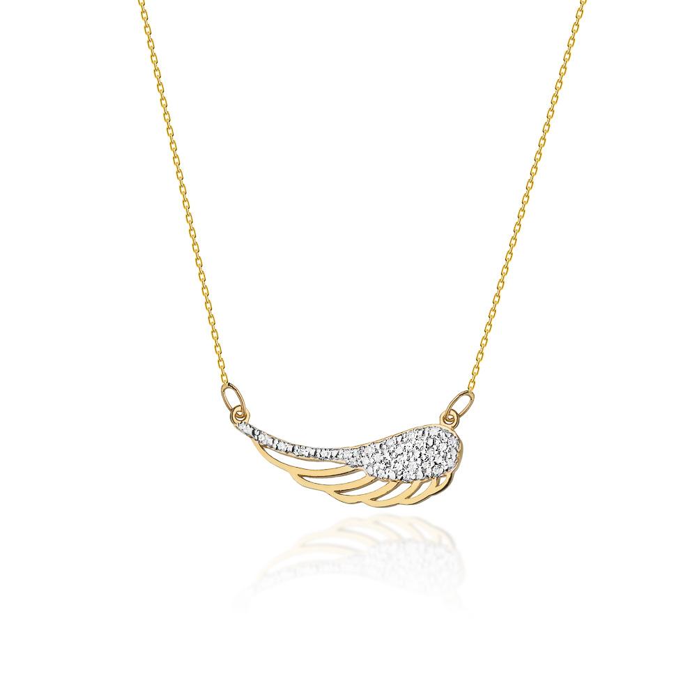 Diamantový náhrdelník, žluté a bílé zlato a brilianty