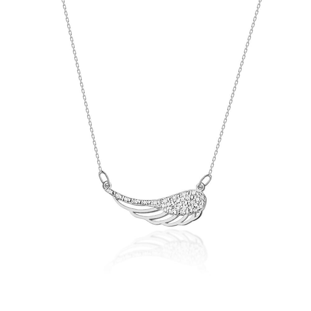 Diamantový náhrdelník, bílé zlato a brilianty