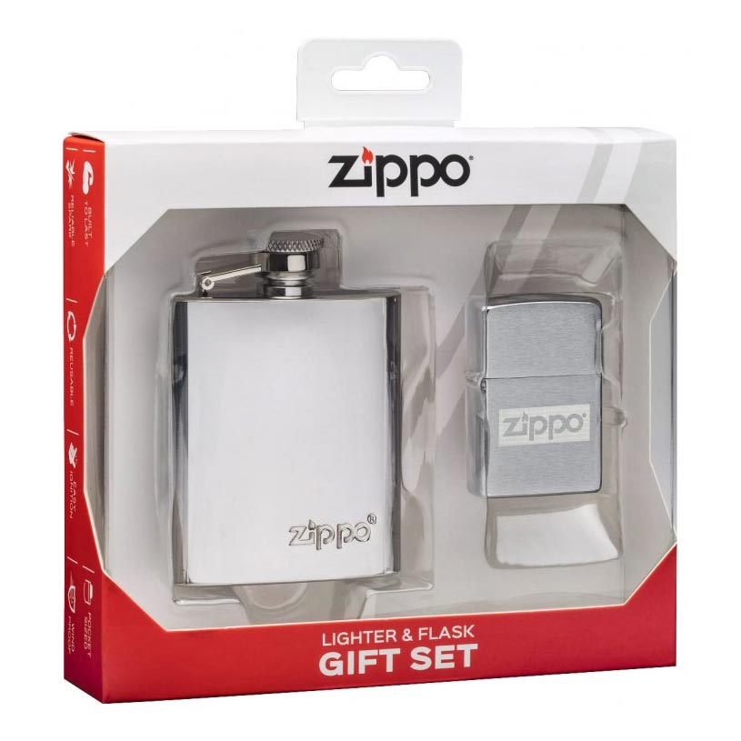ZIPPO dárková sada zapalovač + placatka 30062