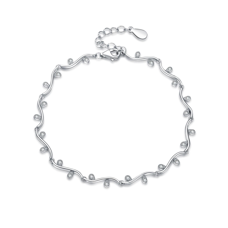 Dámský stříbrný náramek NB-1081