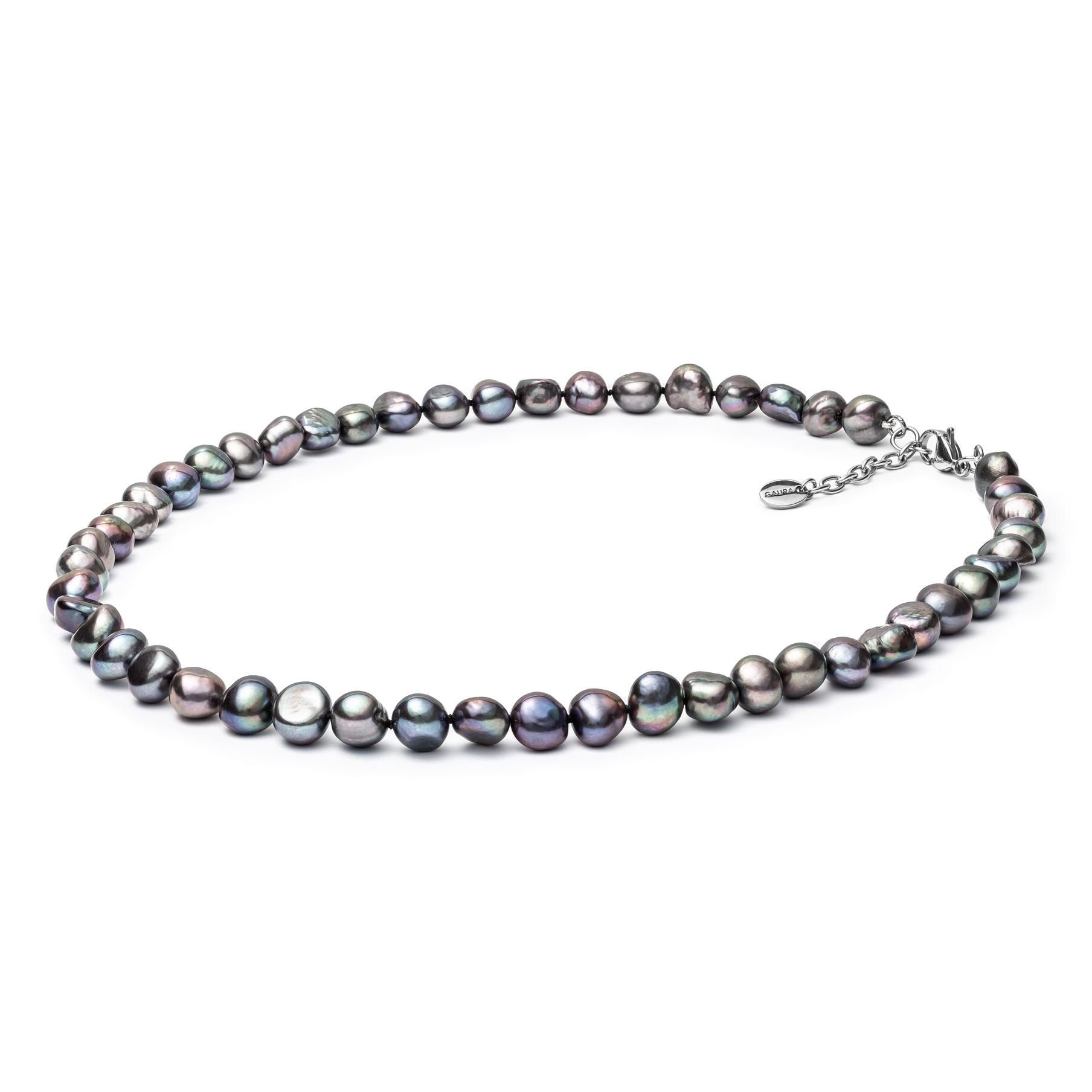 Perlový náhrdelník z pravých říčních perel GA3017-K