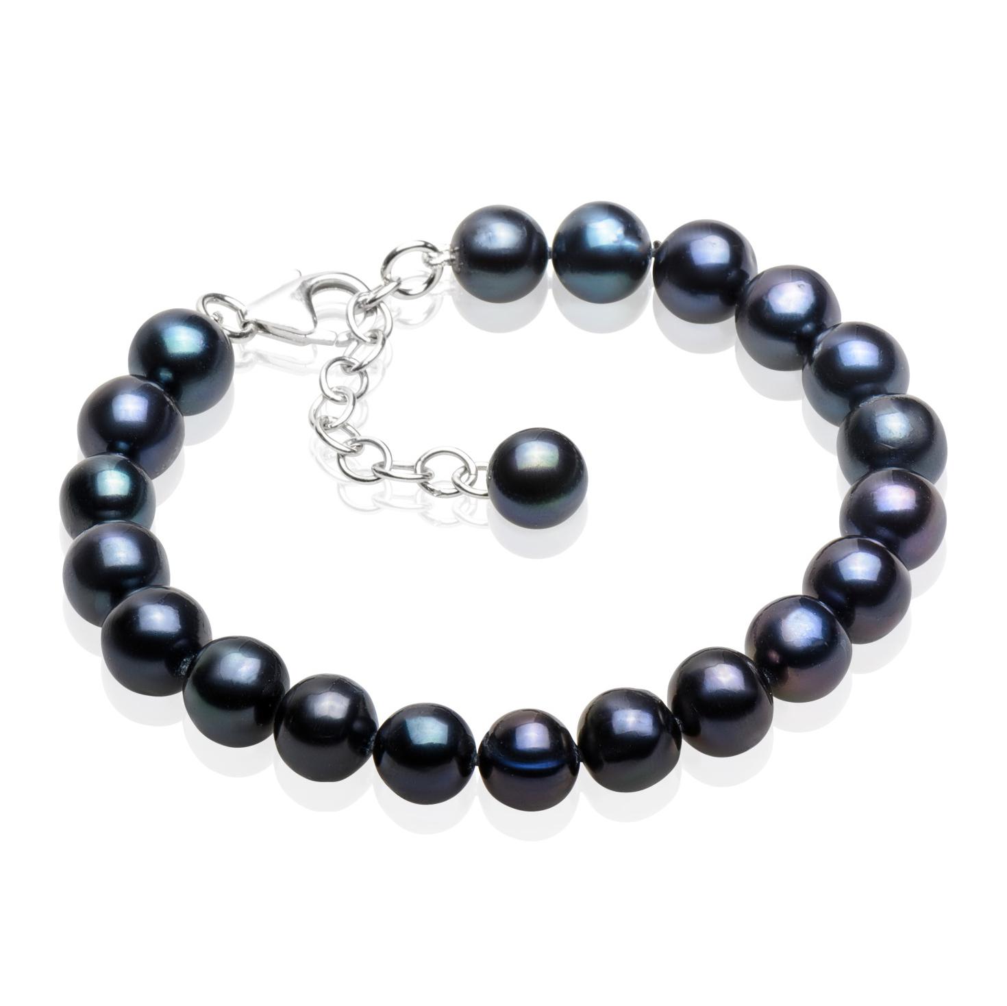 Perlový náramek z pravých říčních perel GA2016-K