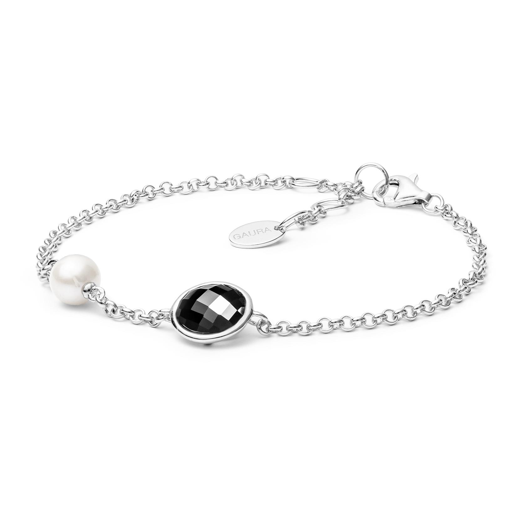 Stříbrný náramek s pravou říční perlou GA2018