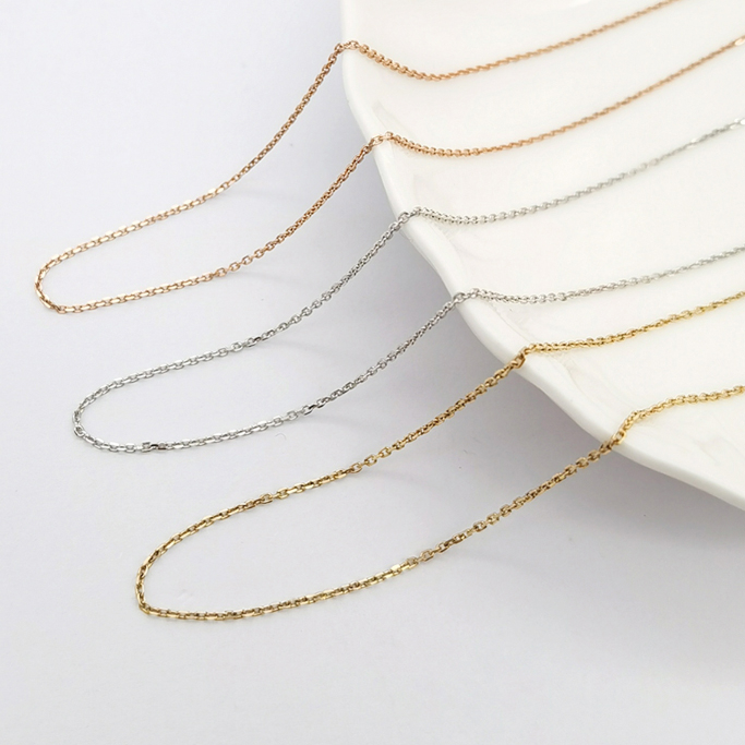 """Zlatý řetízek """"pancer"""" 14kt bílé zlato, 40 + 5 cm"""
