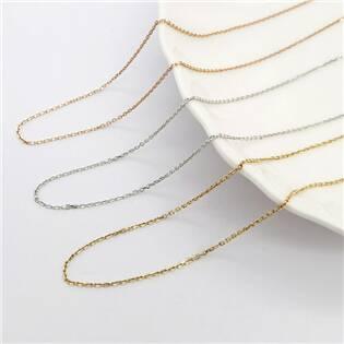 """NUBIS® Zlatý řetízek """"pancer"""" 14kt bílé zlato, 40 + 5 cm - GD003WG-45"""