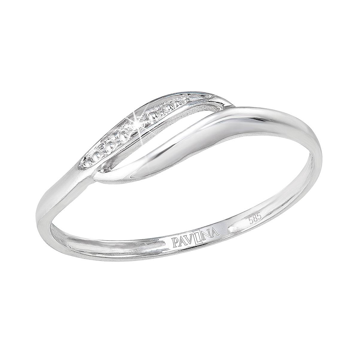 Zlatý prsten, bílé zlato s brilianty