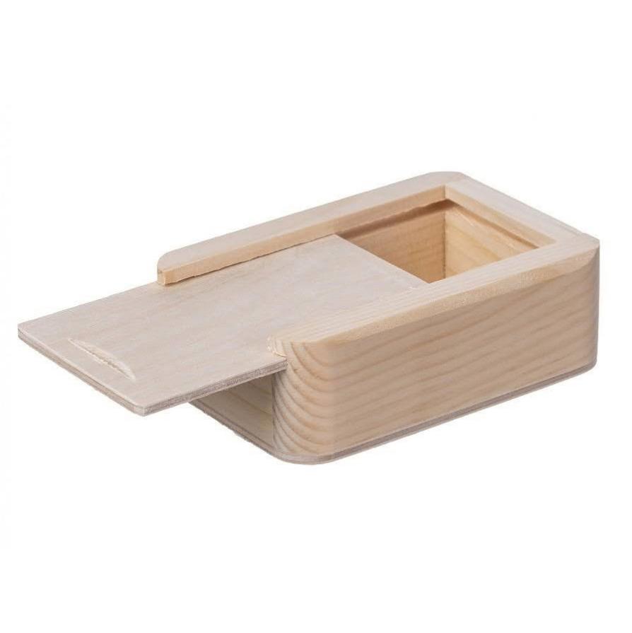 Dřevěná krabička s posuvným víčkem