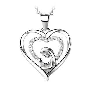 NB-4148 Stříbrný přívěšek - srdce s panenkou Marií