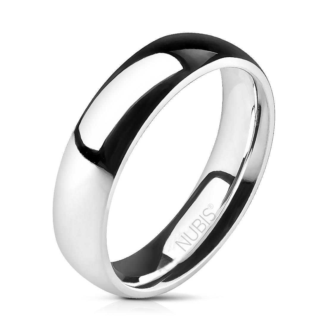 NSS1024 Pánský ocelový snubní prsten, 5 mm