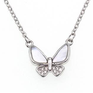 NB-2185 Střibrný náhrdelník motýlek