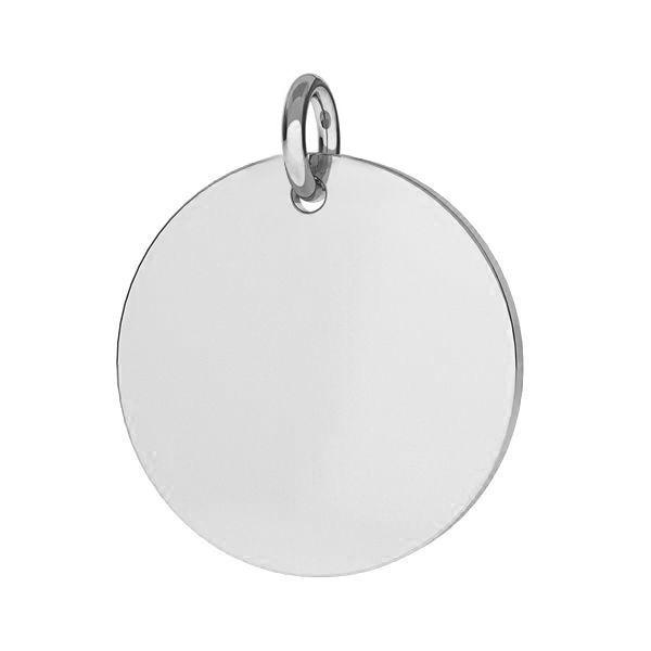 Stříbrný přívěšek destička kulatá 16,5 mm