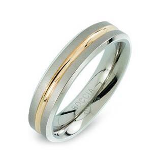 Levně BOCCIA® Pánský titanový snubní prsten BOCCIA® 0144-02 - velikost 58 - 0144-0258
