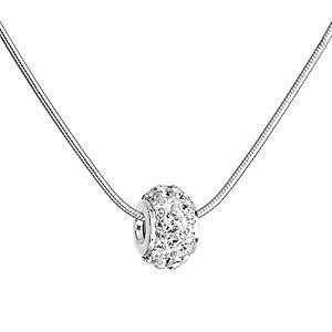 Stříbrný náhrdelník s korálkem Preciosa EG4265