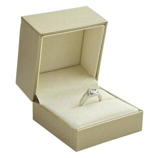 Levně Zlacená koženková krabička na náušnice - KR0400