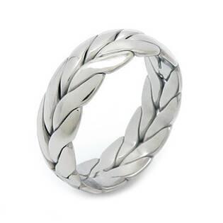 Levně Pánský ocelový prsten proplétaný - velikost 60 - OPR1879-P-60
