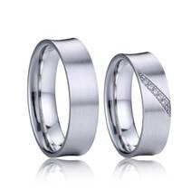 AN1032 Matné snubní prsteny, stříbro AG 925/1000 - pár