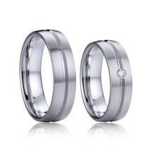 AN1033 Snubní prsteny s diamantem, stříbro AG 925/1000 - pár
