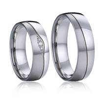 AN1035 Snubní prsteny chirurgická ocel, diamanty - pár