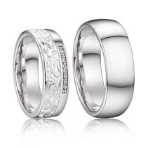 AN1038 Stříbrné snubní prsteny, stříbro AG 925/1000 - pár