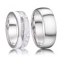 AN1039 Stříbrné snubní prsteny, stříbro AG 925/1000 - pár