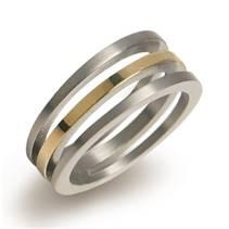 BOCCIA® titanový zlacený prsten 0128-02