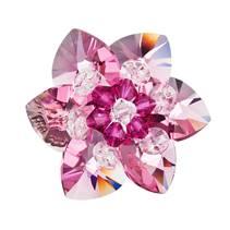 Brož s kamínky Crystals From Swarovski® Rose
