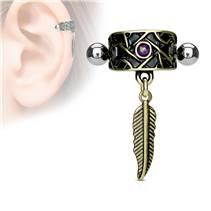 Cartilage piercing do ucha - peříčko