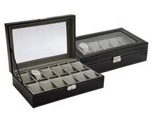 Černá šperkovnice na hodinky nebo náramky