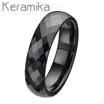 Dámský keramický snubní prsten, šíře 6 mm