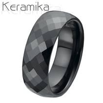 Dámský keramický snubní prsten, šíře 8 mm