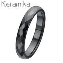 Dámský keramický ssnubní prsten, šíře 4 mm