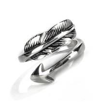 Dámský ocelový prsten - šíp, vel. 58